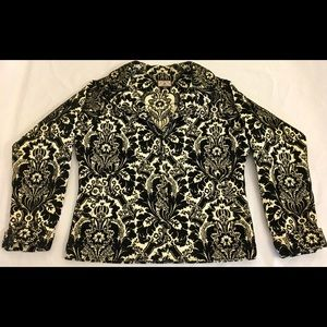 Crafted with Love jacket Black &Ivory Floral XS-M
